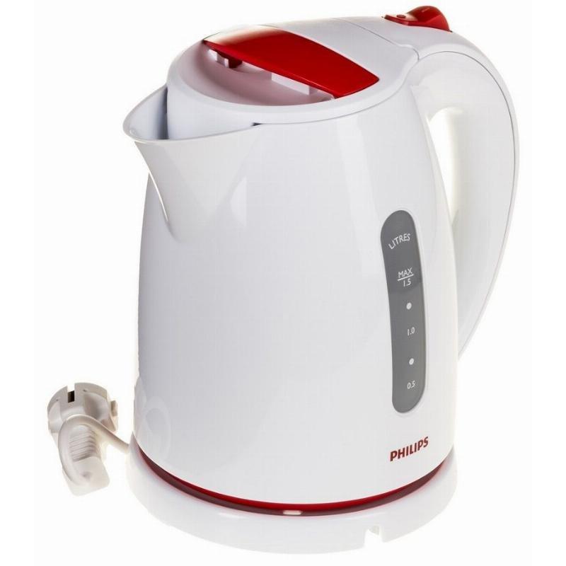 Чайник Philips HD 4646/40 2100Вт 1,5л пластик белый/красный