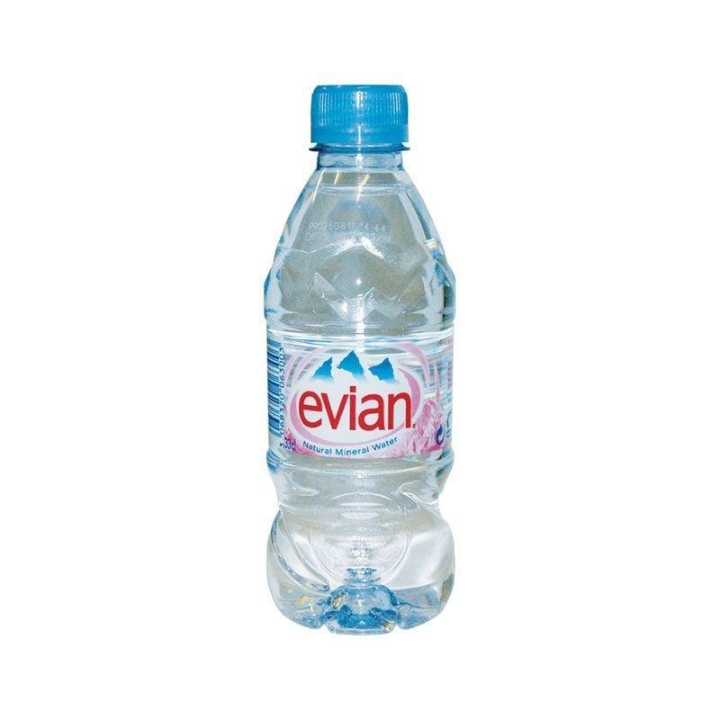 Вода минеральная негазированная Evian 0,33л ПЭТ 24шт/уп