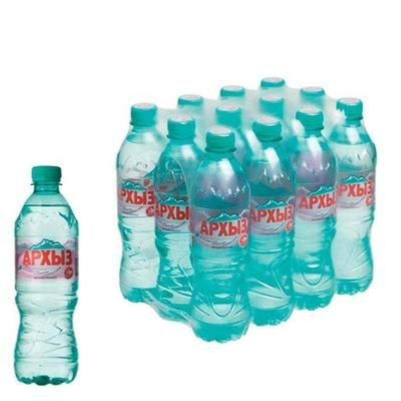 Вода минеральная негазированная Архыз 0,5л ПЭТ 12шт/уп