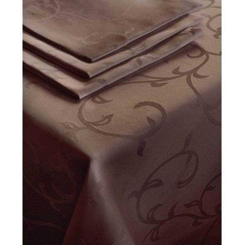 Скатерть 145х180 Журавинка коричневый ГОМ Рис1927