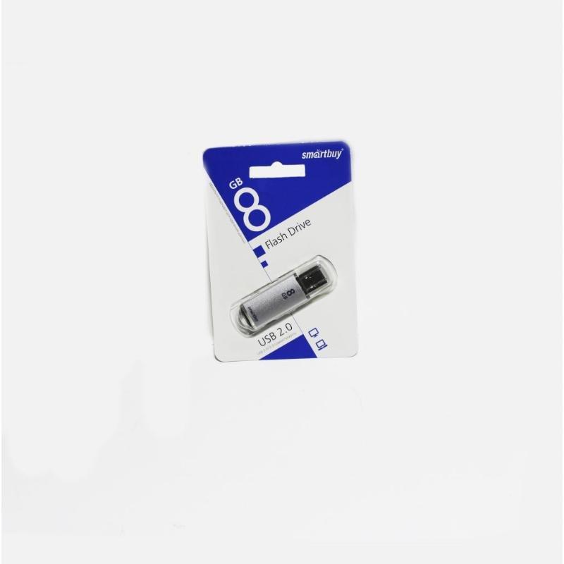 Носитель информации Flash USB 8ГБ Smart Buy V-Cut серебристый