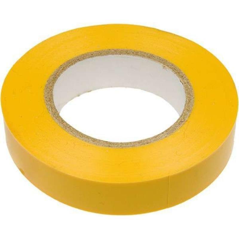 Изолента ПВХ жёлтая 15х20