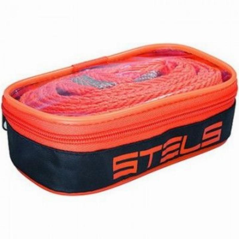 Трос буксировочный STELS 5т 2 крюка,сумка