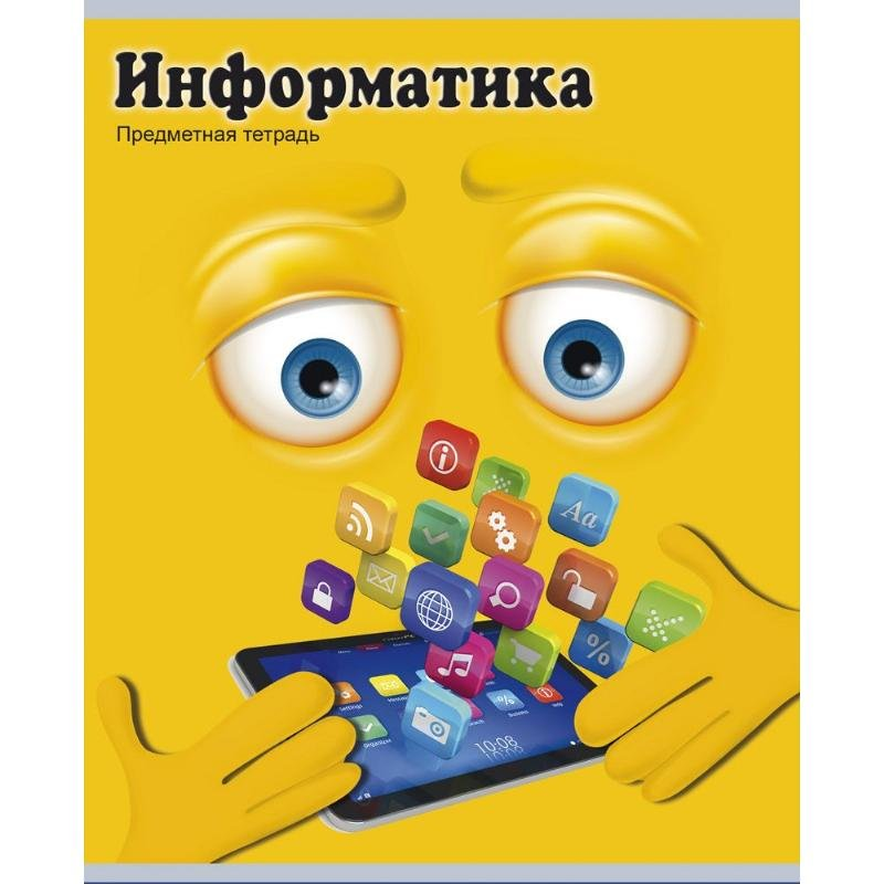 Тетрадь 48л Информатика Смайлики клетка