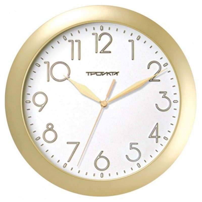 Часы настенные В-Тройка 11171183 круг белые 290мм