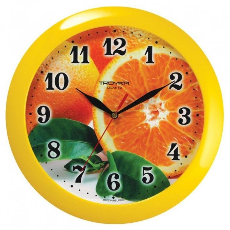 Часы настенные В-Тройка 11150126 круг апельсин 290мм