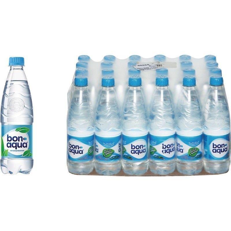 Вода питьевая негазированная Bon Aqua 0.5л 24 шт/уп