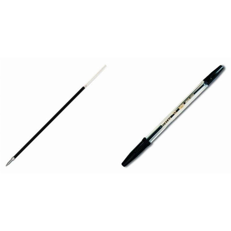Ручка шариковая Corvina-Universal 1мм прозрачный корпус черная + стержень