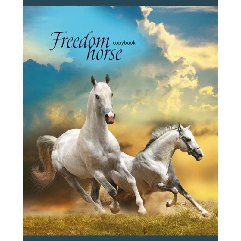 Тетрадь 36л Изумительные лошади клетка