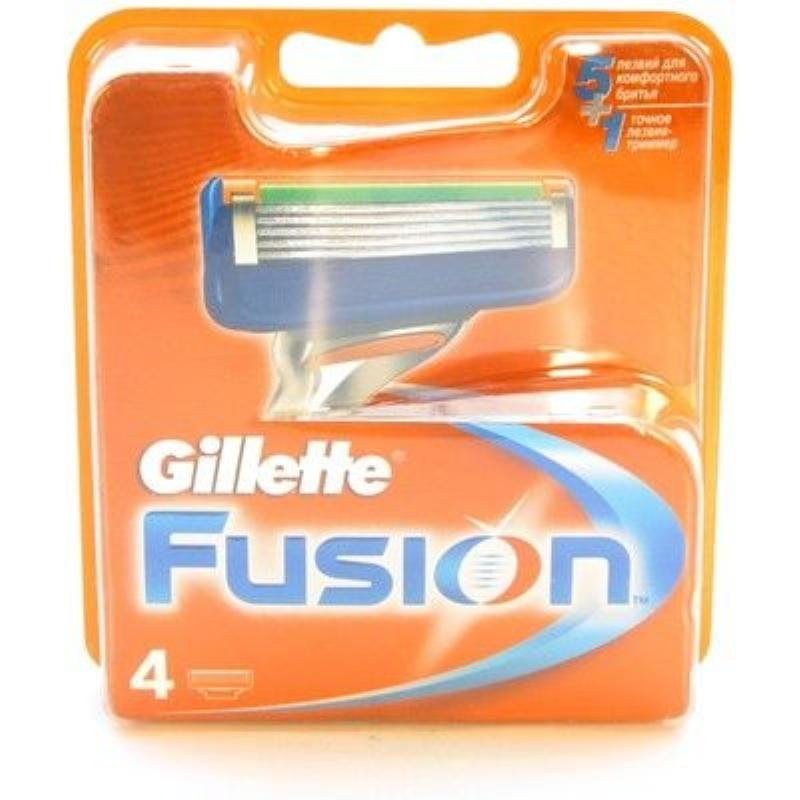 Сменные касеты для бритья Fusion 4шт