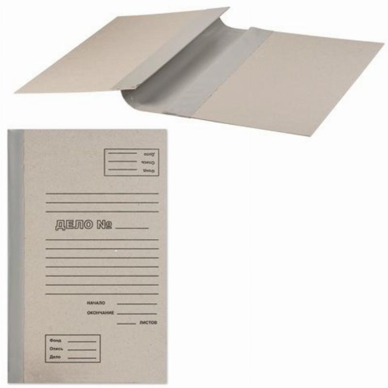 Папка архивная для переплета 40мм 250л картон/бумвинил бурая 310х215х40мм