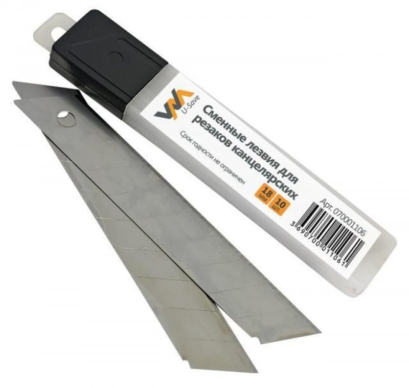 Лезвия для ножа 18мм Workmate10шт/уп