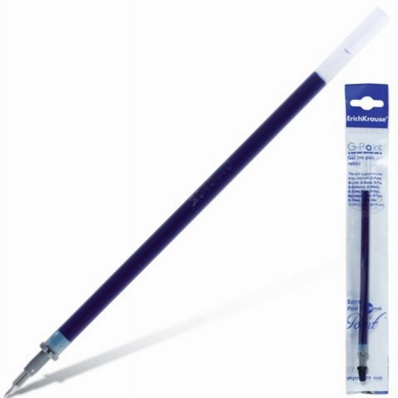 Стержень гелевый 129мм Erich Кrause G-Point extra fine 0,38мм игольчатый  синий