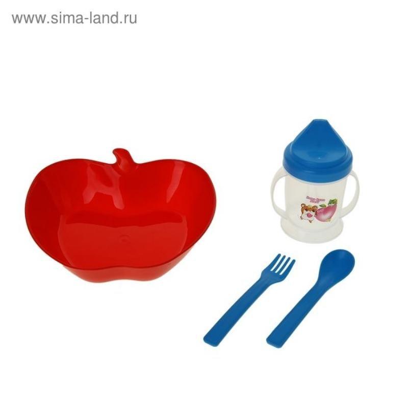 Набор посудки 4 предмета Яблоко