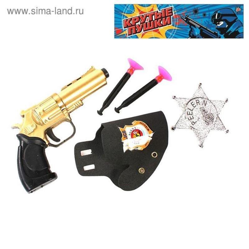 Набор полиц Шериф 5 предметов пистолет кобура 2 присоски жетон