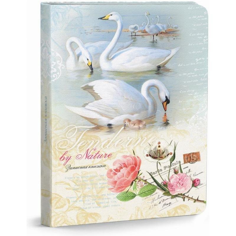 Записная книжка А5 80л Белые лебеди