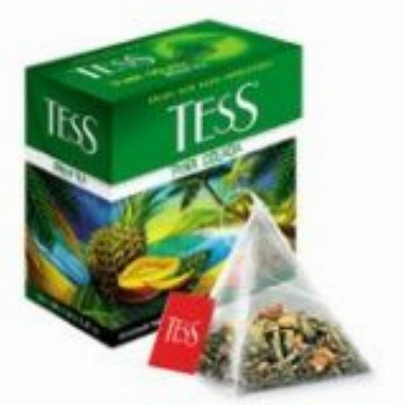 Чай Tess Pina colada 20шт в пирамидках зеленый с ароматом манго ананас