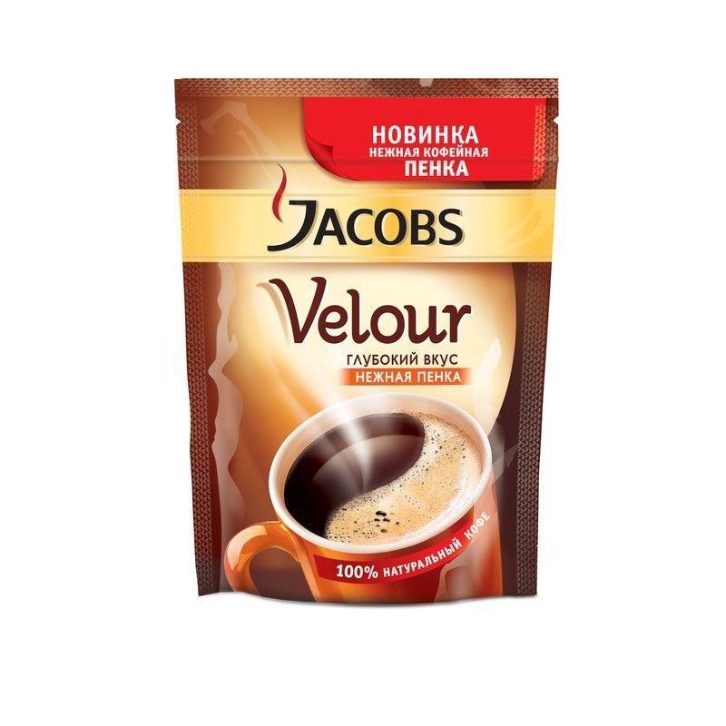 Кофе Jacobs Velour молотый 70г в растворимом вакуумная упаковка