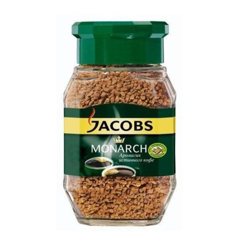 Кофе Jacobs Monarch растворимый 95г стеклянная банка
