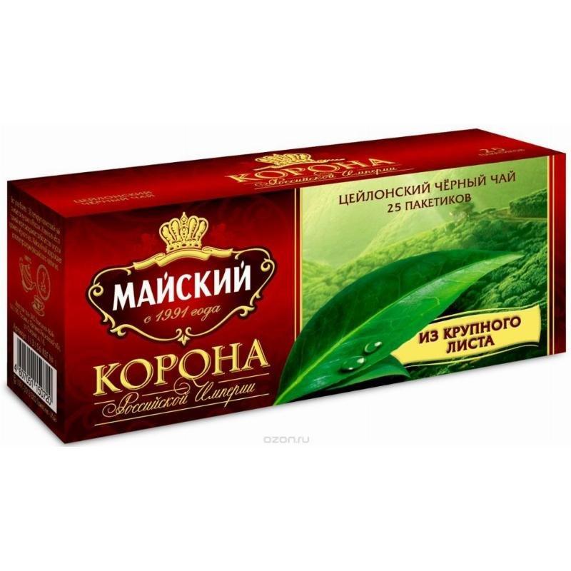 Чай Майский Корона Российской Империи 25 шт в пакетиках черный