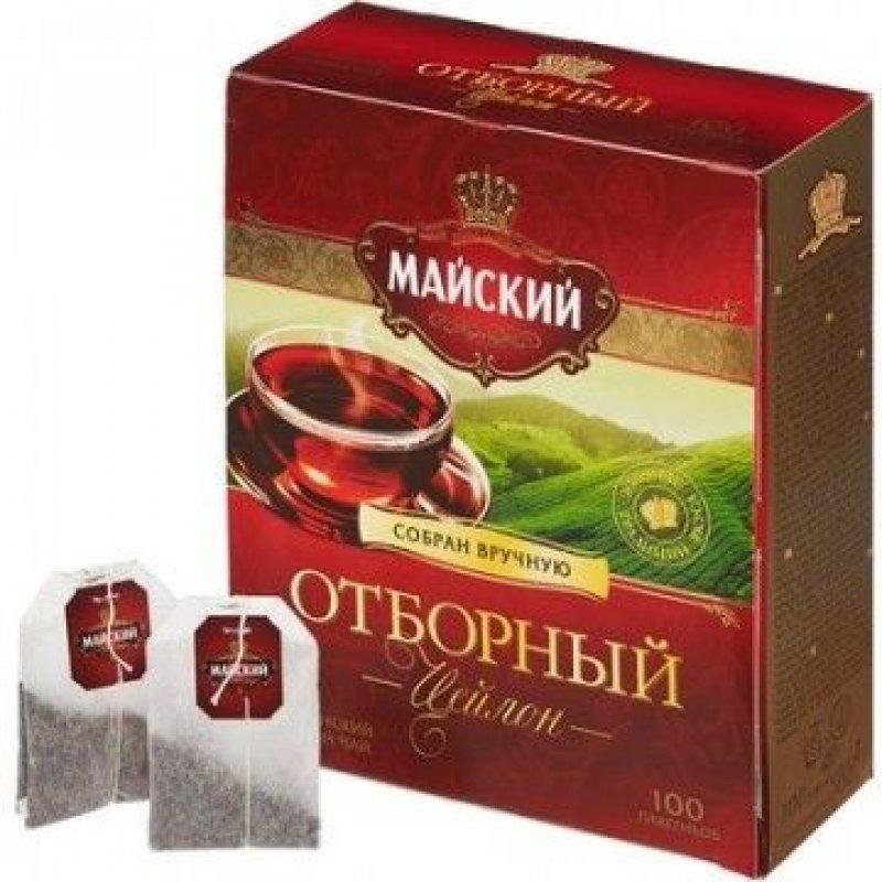 Чай Майский Отборный 100шт в пакетиках черный