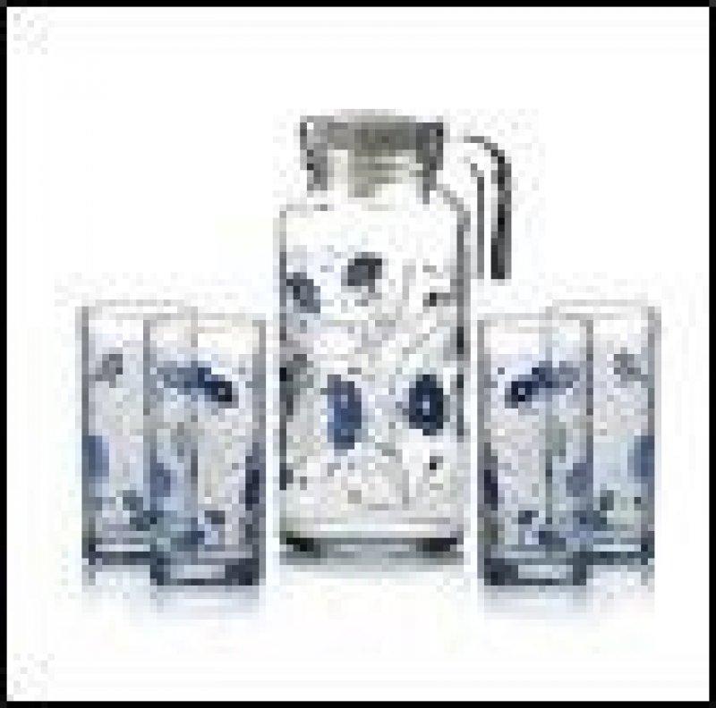 Набор кувшин стаканы Серенада Блю стекло 5пр