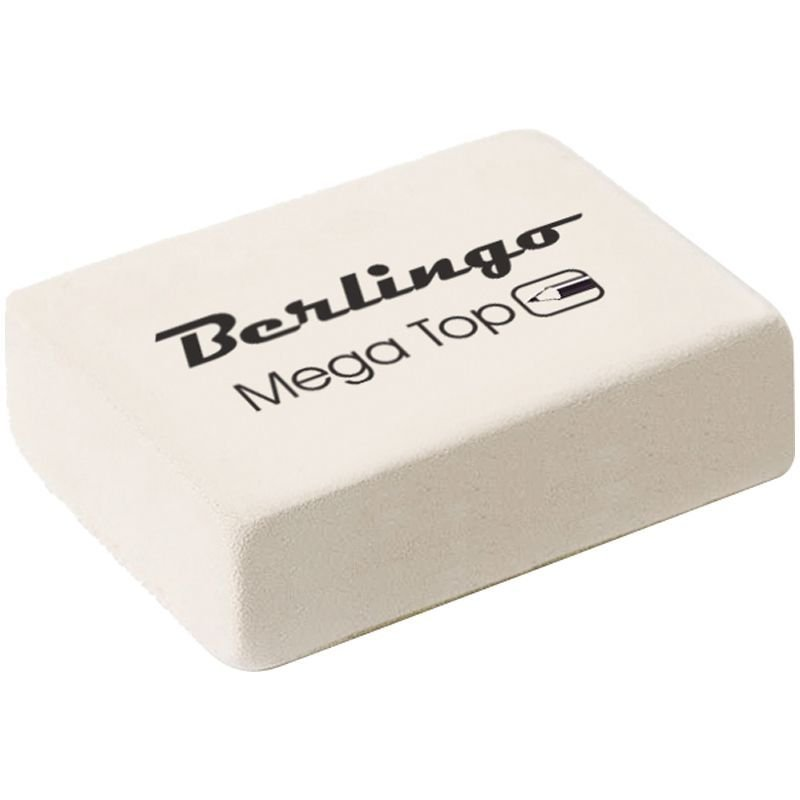 Ластик Berlingo Mega Top 32х18х8мм прямоугольный натуральный каучук