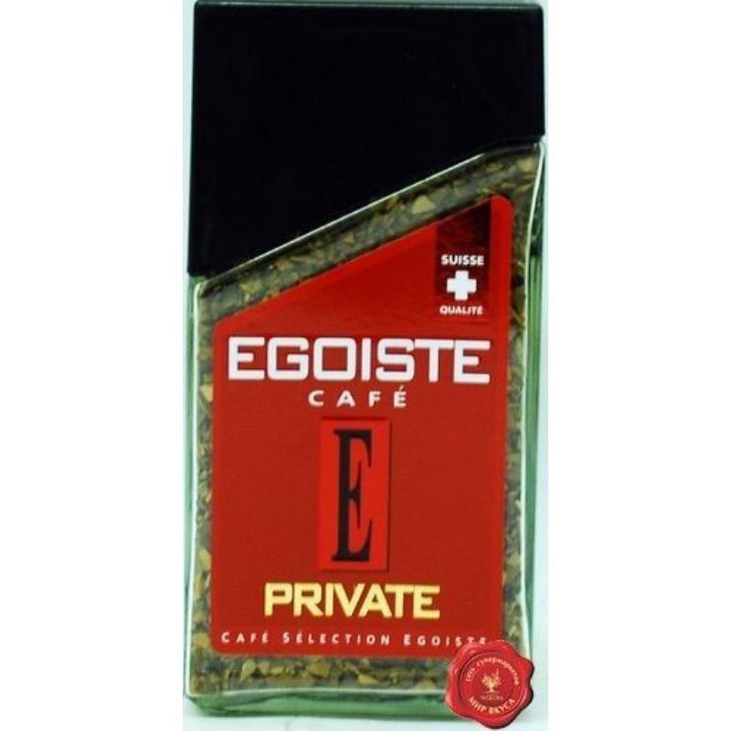 Кофе Egoiste Private растворимый 100г стеклянная банка