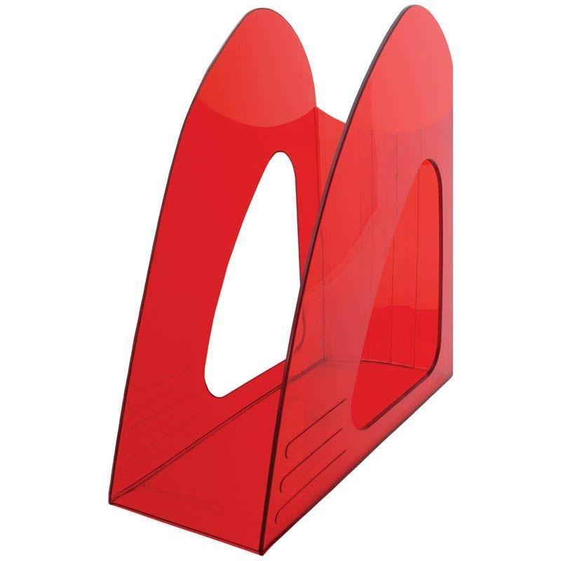 Стойка для бумаг Berlingo Mega Top тонированный красный