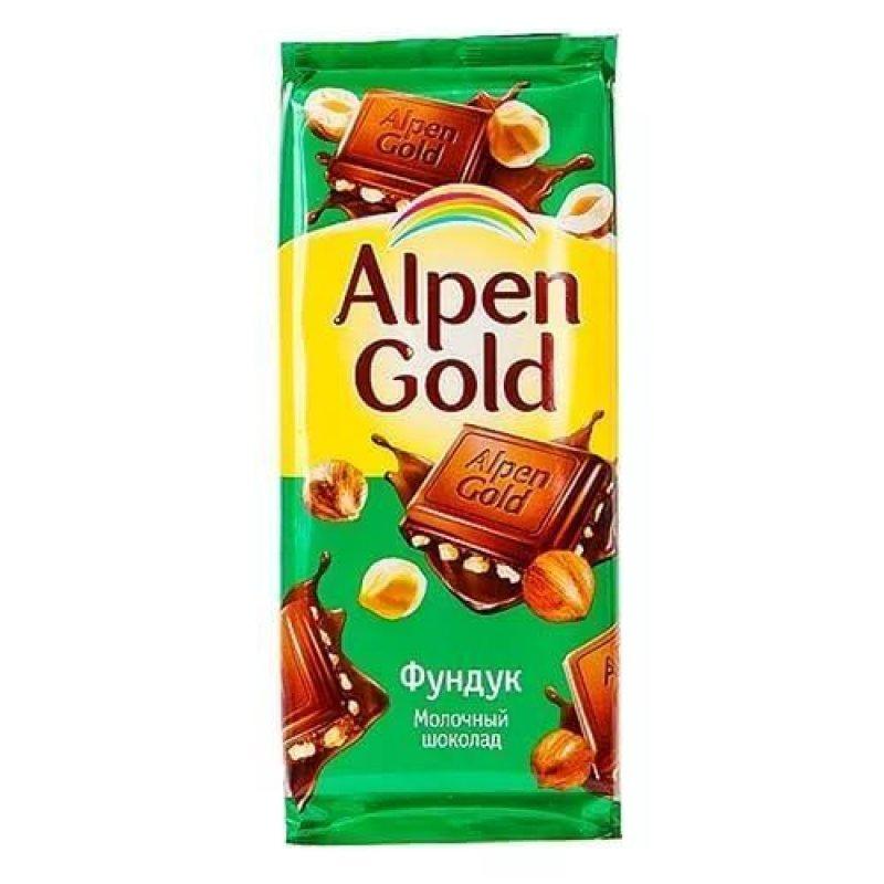 Шоколад Alpen Gold молочный с фундуком 90г