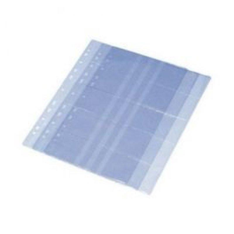 Блок для визитниц на 6 карточек прозрачный с антибликовой фактурой