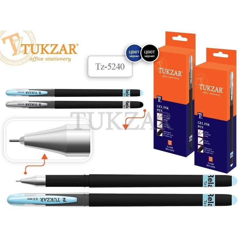 Ручка гелевая Tukzar Soft 0,5мм непрозрачный корпус игольчатый наконечник синяя