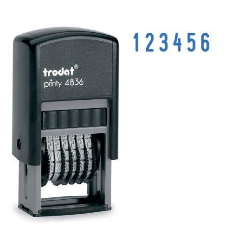 Нумератор Trodat 4836 6 разрядов оттиск 15х3,8мм