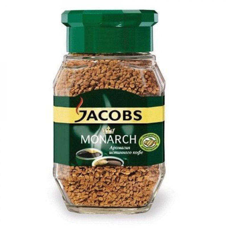 Кофе Jacobs Monarch сублимированный 190г стеклянная банка