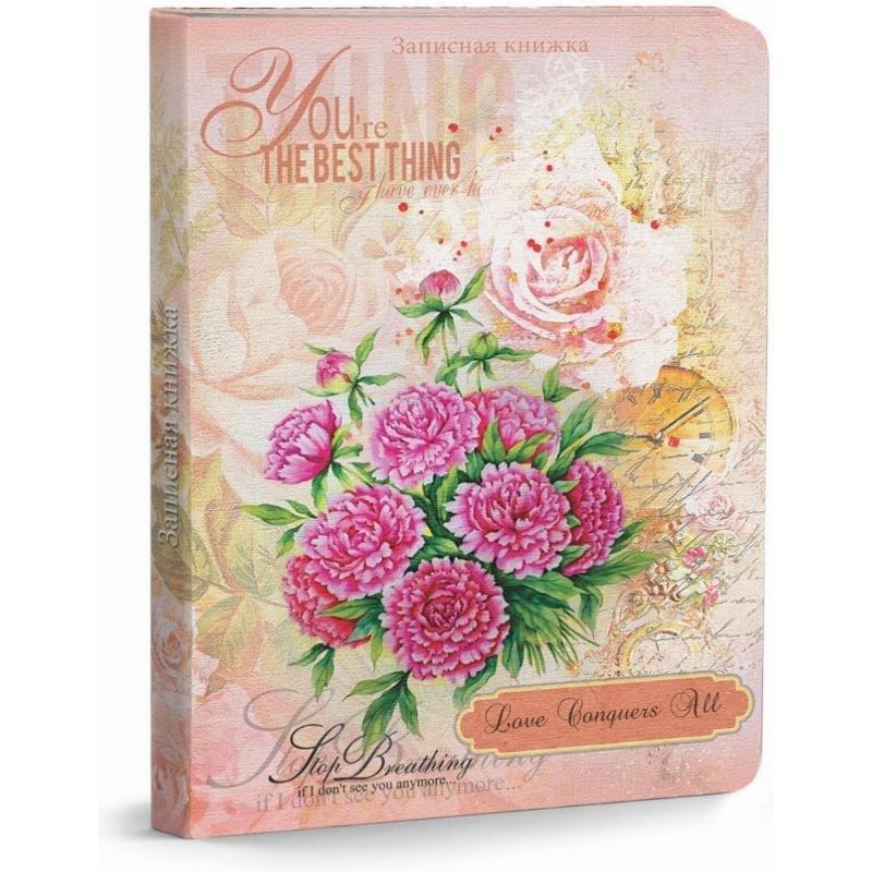 Записная книжка А5 80л Ярко-розовый букет