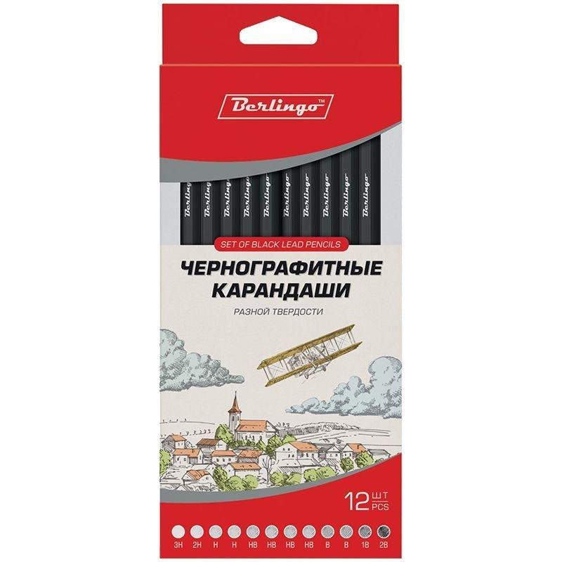 Набор карандашей 12шт Berlingo корпус шестигранный деревянный европодвес