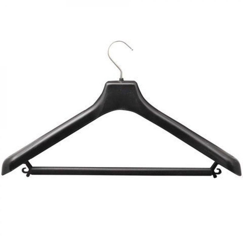 Вешалка-плечики универсальная р 48-50 черная 45см пластик