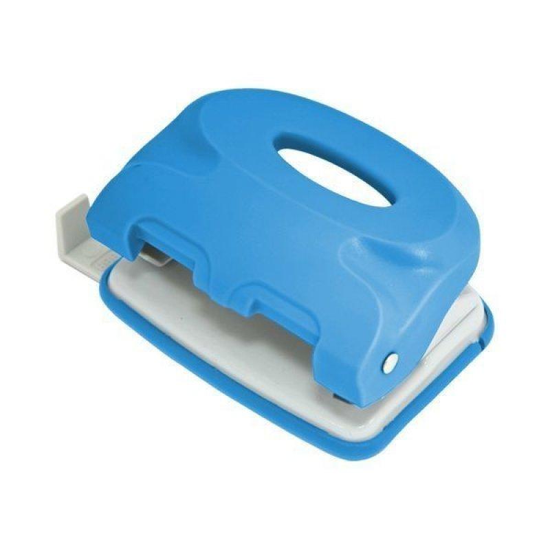 Дырокол 10л Index Colourplay пластиковый корпус неоновый голубой