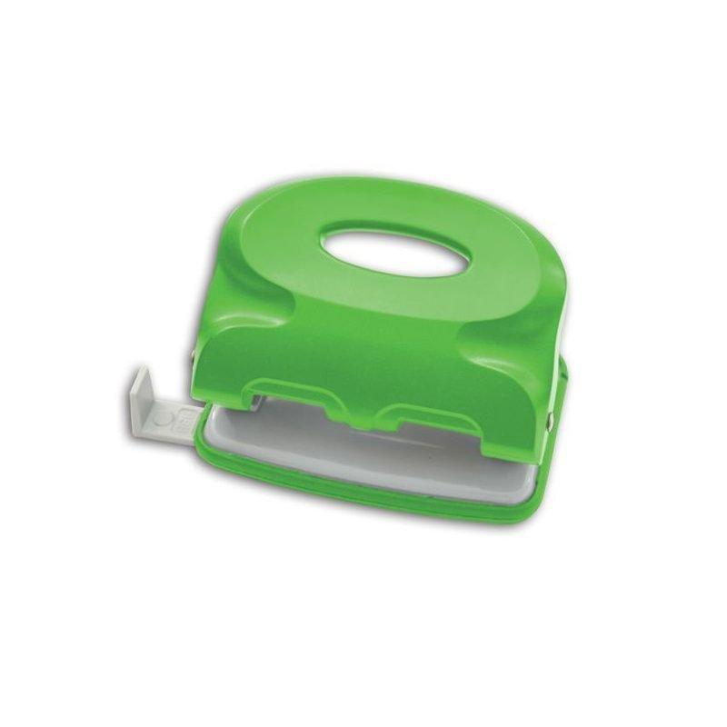 Дырокол 10л Index Colourplay пластиковый корпус неоновый зеленый