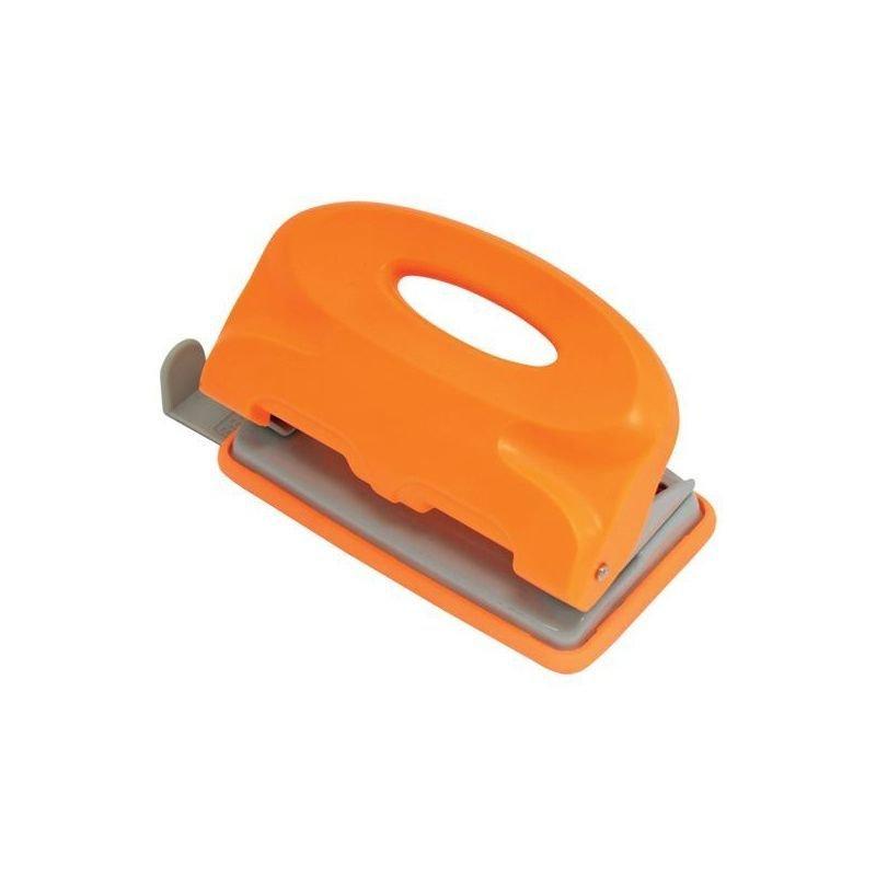 Дырокол 10л Index Colourplay пластиковый корпус неоновый оранжевый