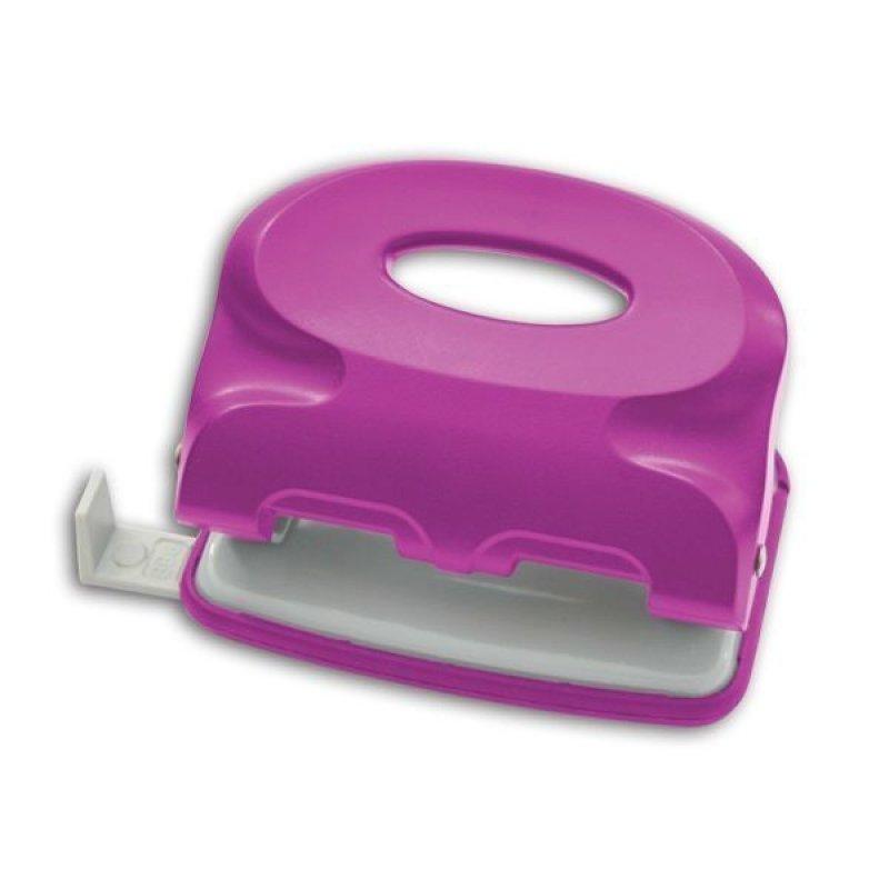 Дырокол 10л Index Colourplay пластиковый корпус неоновый сиреневый