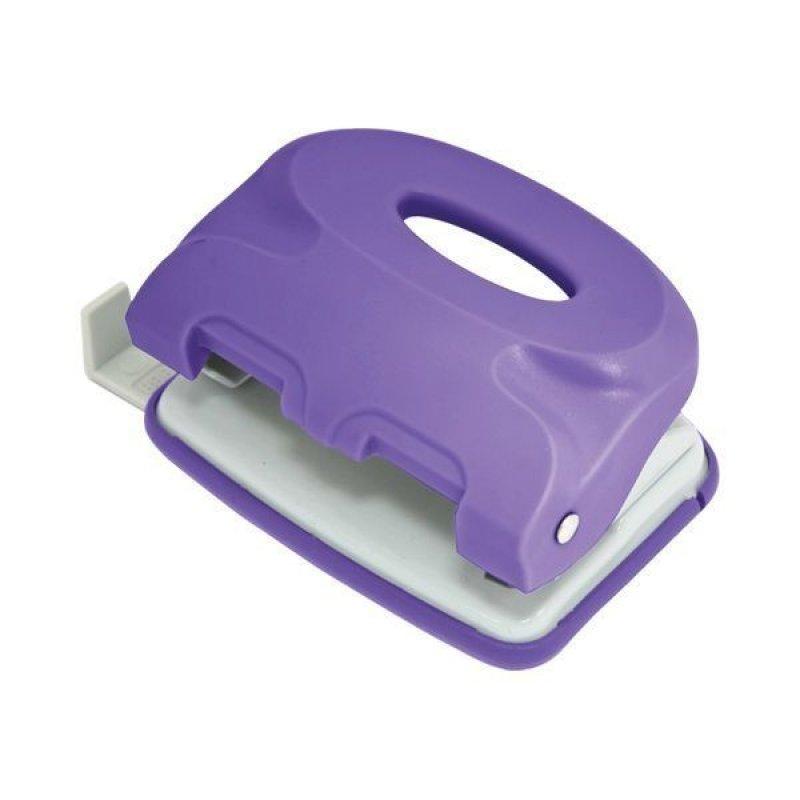 Дырокол 10л Index Colourplay пластиковый корпус неоновый фиолетовый