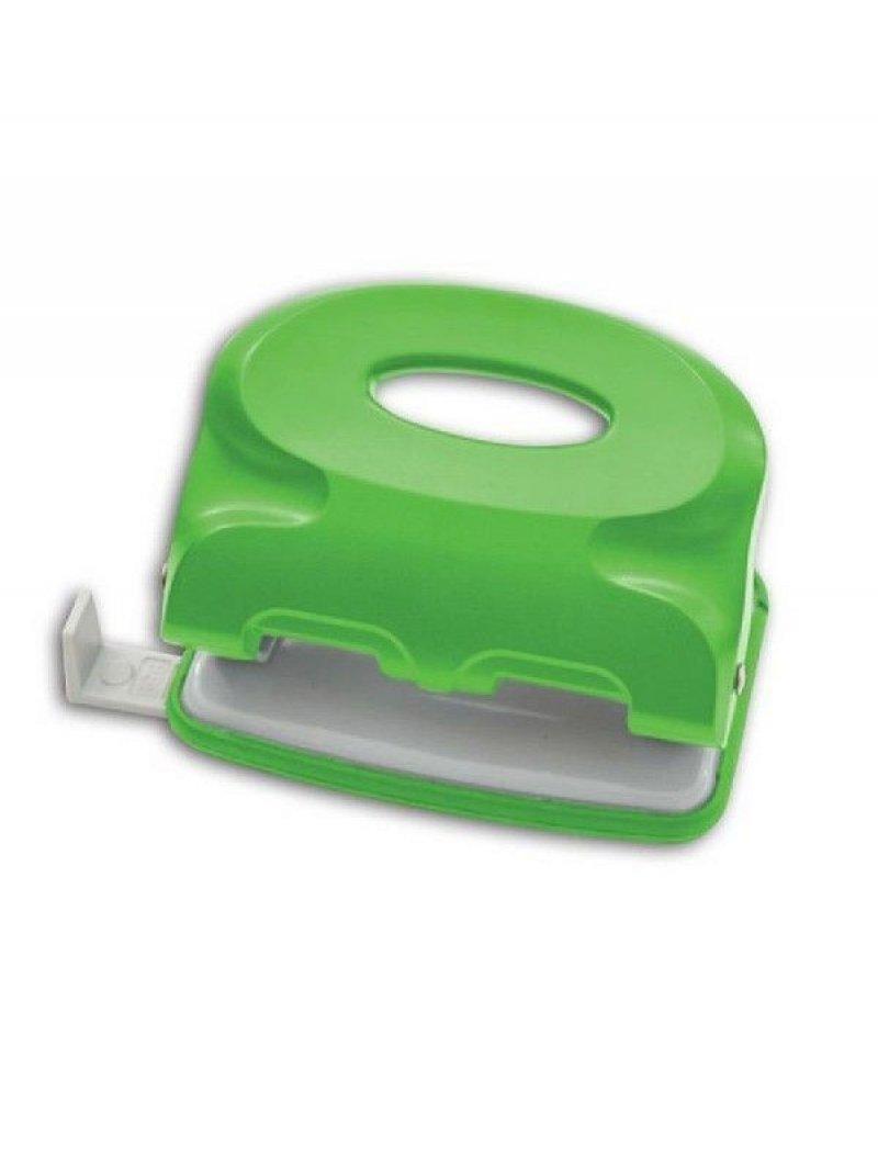 Дырокол 15л Index Colourplay пластиковый корпус неоновый зеленый