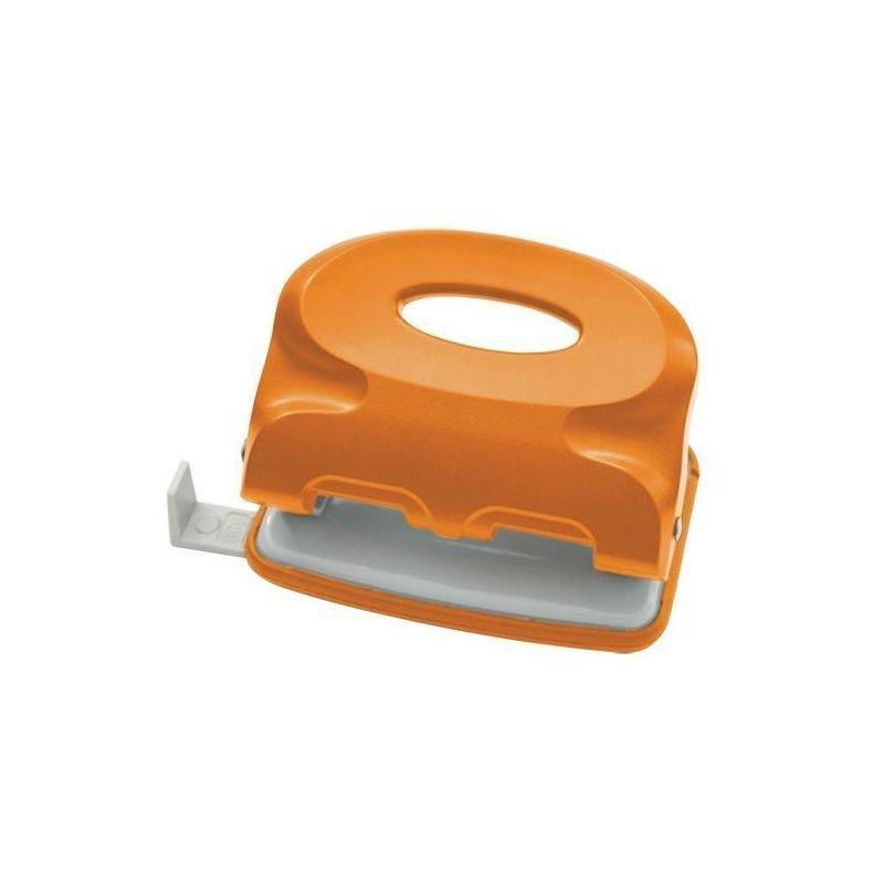 Дырокол 15л Index Colourplay пластиковый корпус неоновый оранжевый