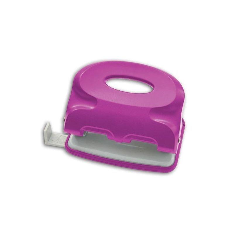 Дырокол 15л Index Colourplay пластиковый корпус неоновый сиреневый