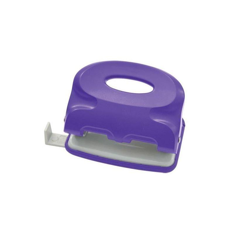 Дырокол 15л Index Colourplay пластиковый корпус неоновый фиолетовый