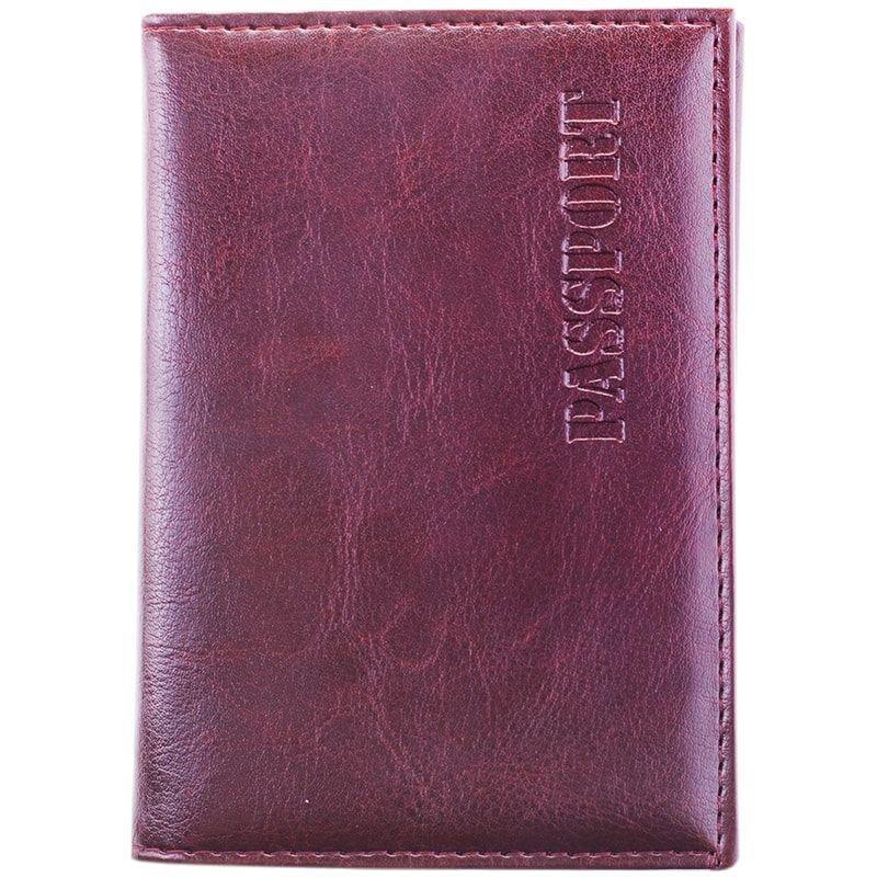 Обложка для паспорта OfficeSpace кожзам + изолон с подкладом коричневая