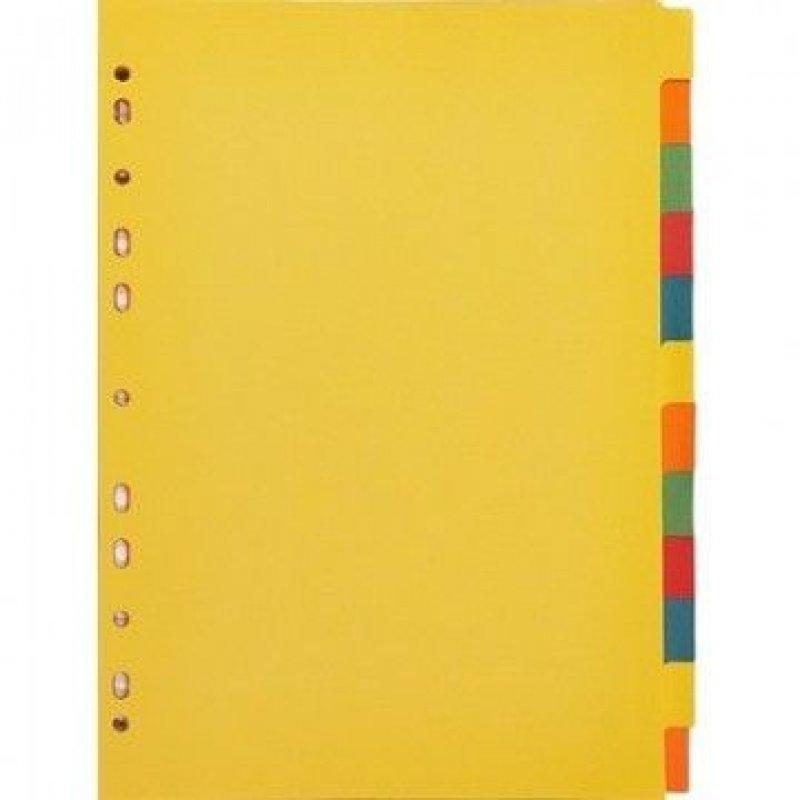 Разделитель картонный Attache А4 12цв