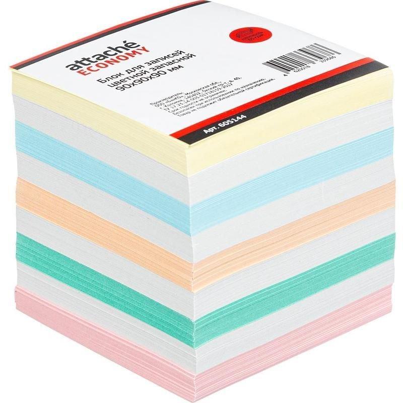 Блок для записей 90х90х90мм Attache Economy цветной запасной