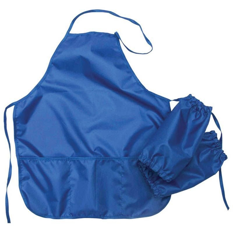 Фартук с нарукавниками 3 кармана синий